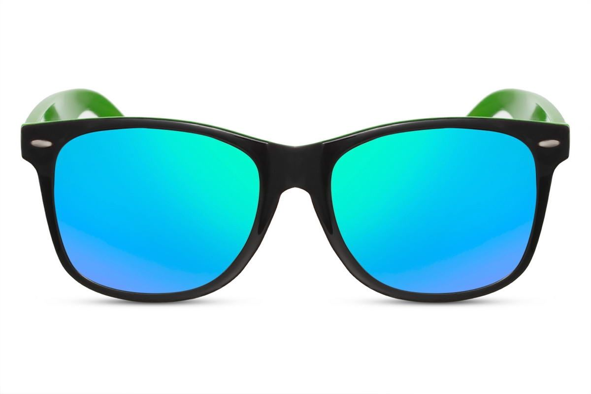 Wayfarer Green and Black Mirror