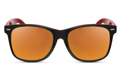 Wayfarer Red and Black Mirror