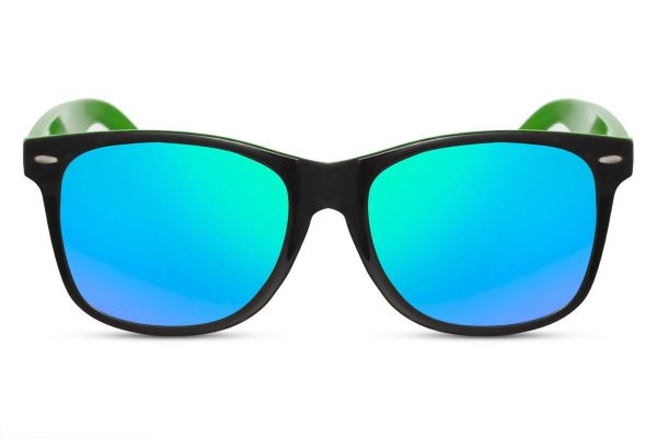 Wayfarer Green and Black Mirror