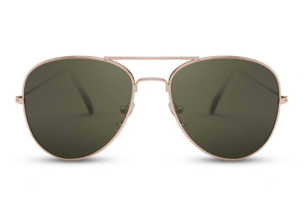 Aviator with Green Glasses